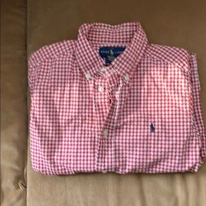 Boys button down a Ralph Lauren shirt